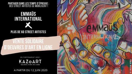 Vente solidaire d'oeuvres de street art // Solidarity sale of street art works